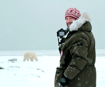 Polar Bear and Man_DAVID_BRIGGS__MG_3461 - edited high res